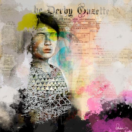Collage art by Khalid Shahin