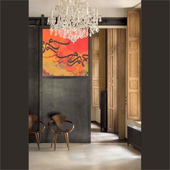 Vermelho- artwork by artist Khalid Shahin- لوحة جديدة للفنان التشكيلي خالد شاهين