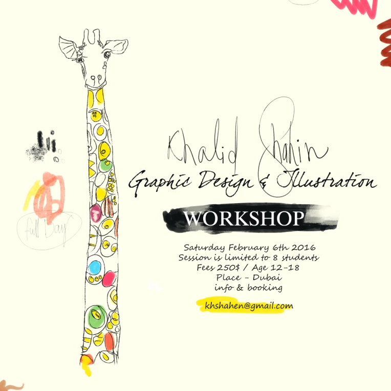 Digital Graphic Design and Illustration - Dubai February 6th 2016