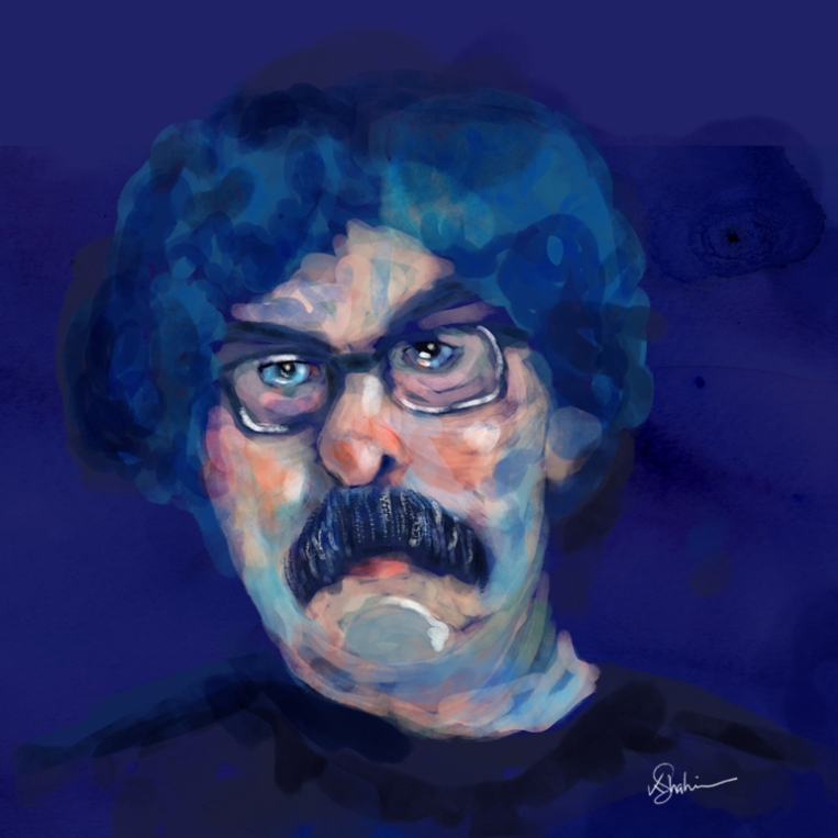 Portrait (digital watercolors)