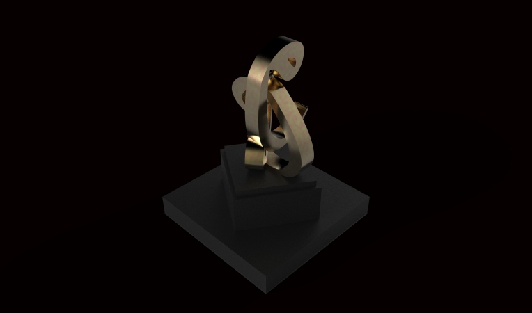 Copper sculpture by Khalid Shahin
