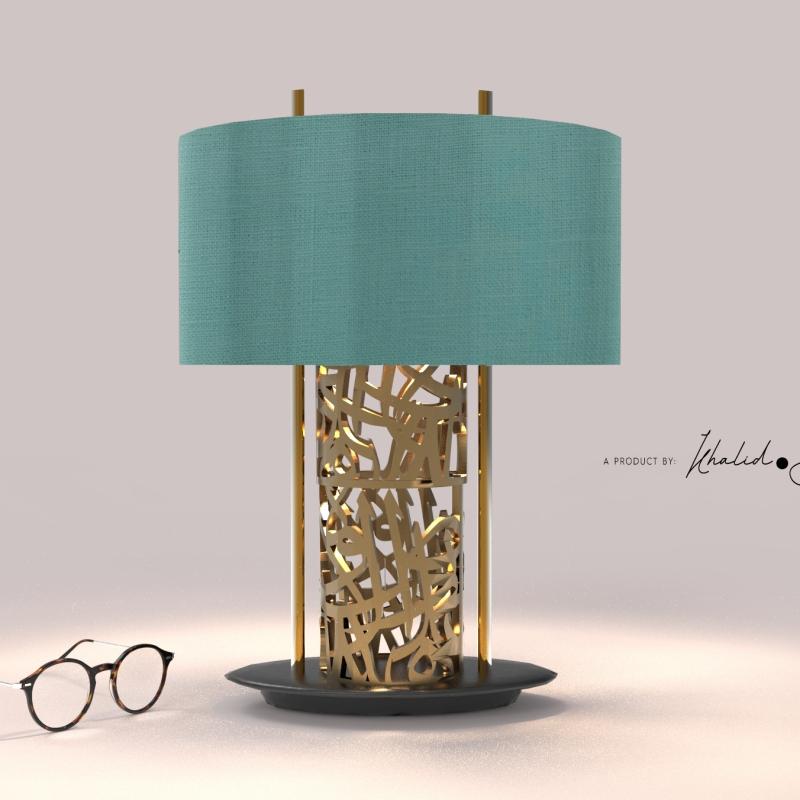 """""""First Love"""" Lamp shade by Khalid Shahin"""