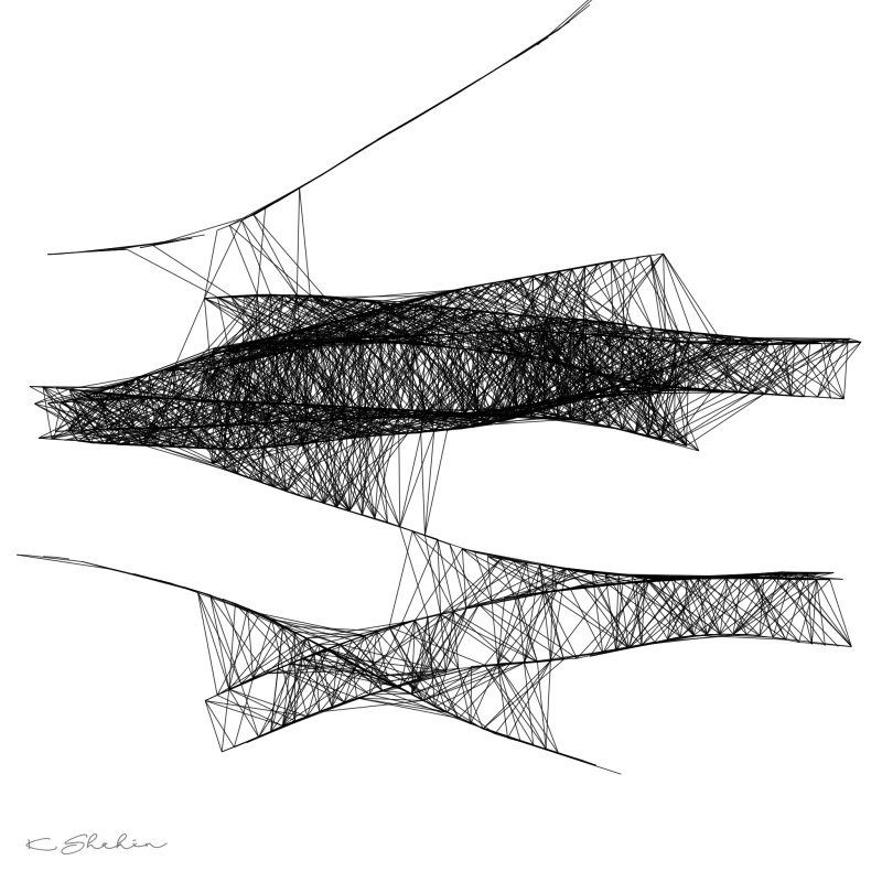 """Congestion"" by artist Khalid Shahin"