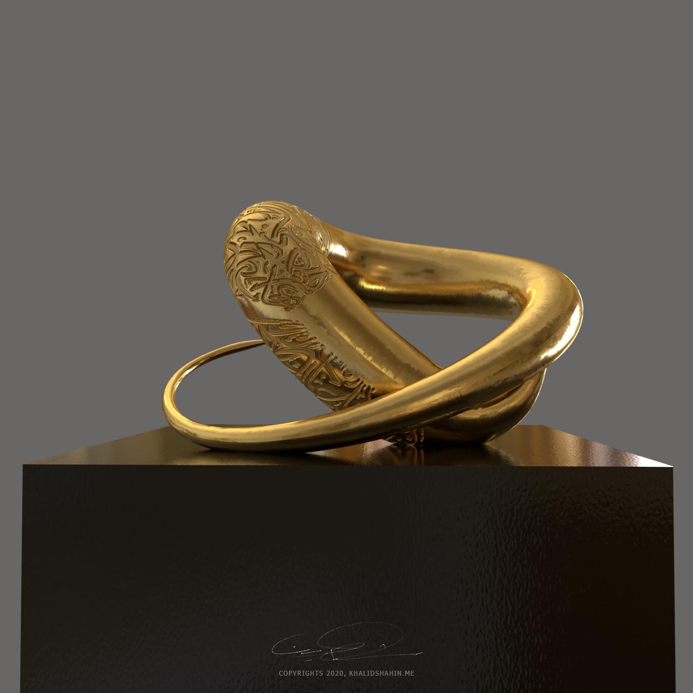 Contorto- sculpture work by Khalid Shahin